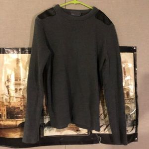 Vince Sweater with Leather Shoulders